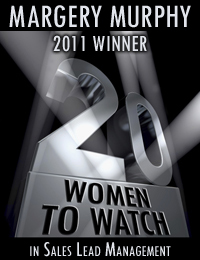 Margery Murphy Winner of Sales Lead Management Top 20 Women to Watch Award