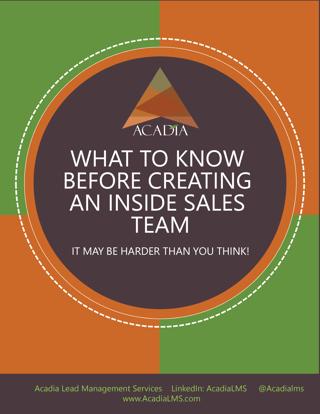 Creating An Inside Sales Team Ebook