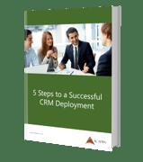 5 Steps for Successful CRM  Deployment eBook Mockup