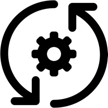 circular arrows around a gage