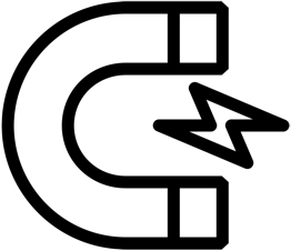 magnet and lightning bolt icon