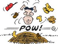 Charlie Brown Falling over