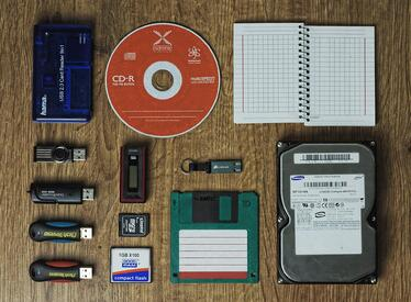 Laid out computer supplies