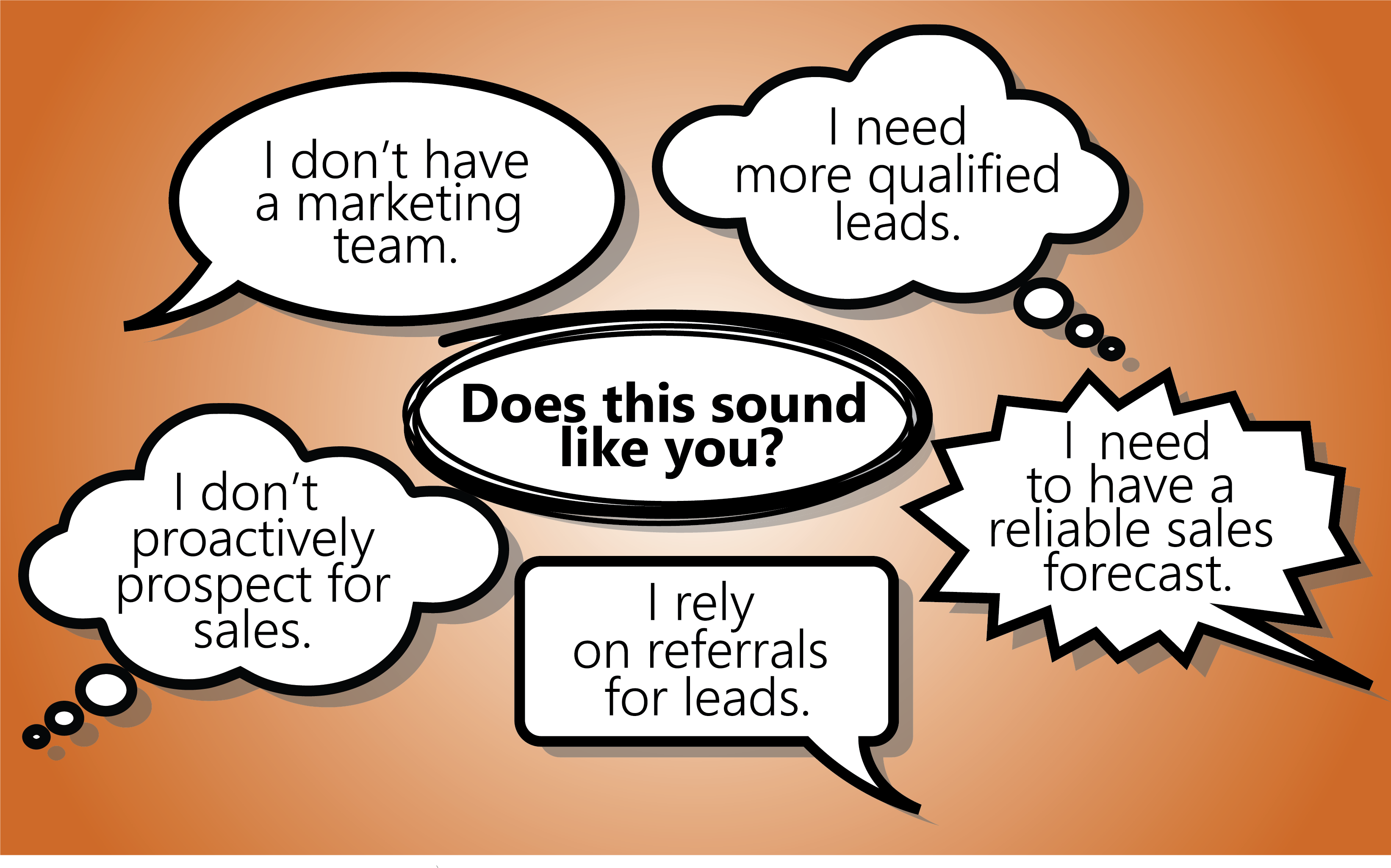 Does this sound like you? SMB Speech Bubble Graphic