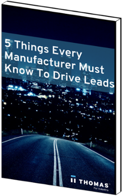 5 Things Every Manufacturer Must Know to Drive Leads ebook mockup