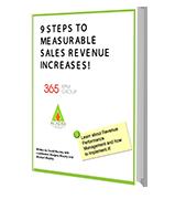 9 Steps to Measurable Sales Revenue ebook mockup
