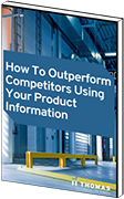 How to Outperform Your  Competitors Using Your Product  Information eBook Mockup