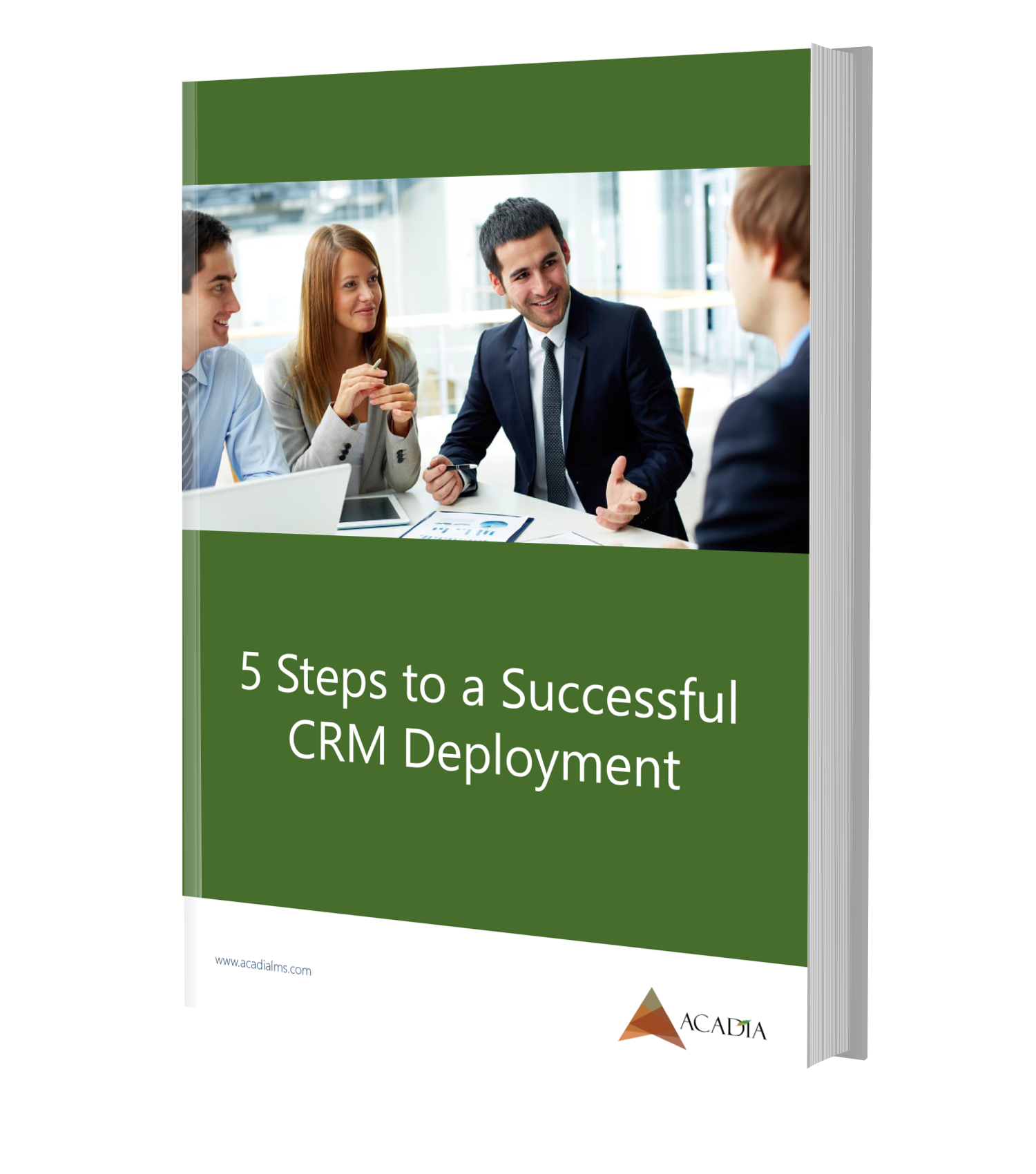 5 Steps to a Successful CRM Deployment eBook mockup