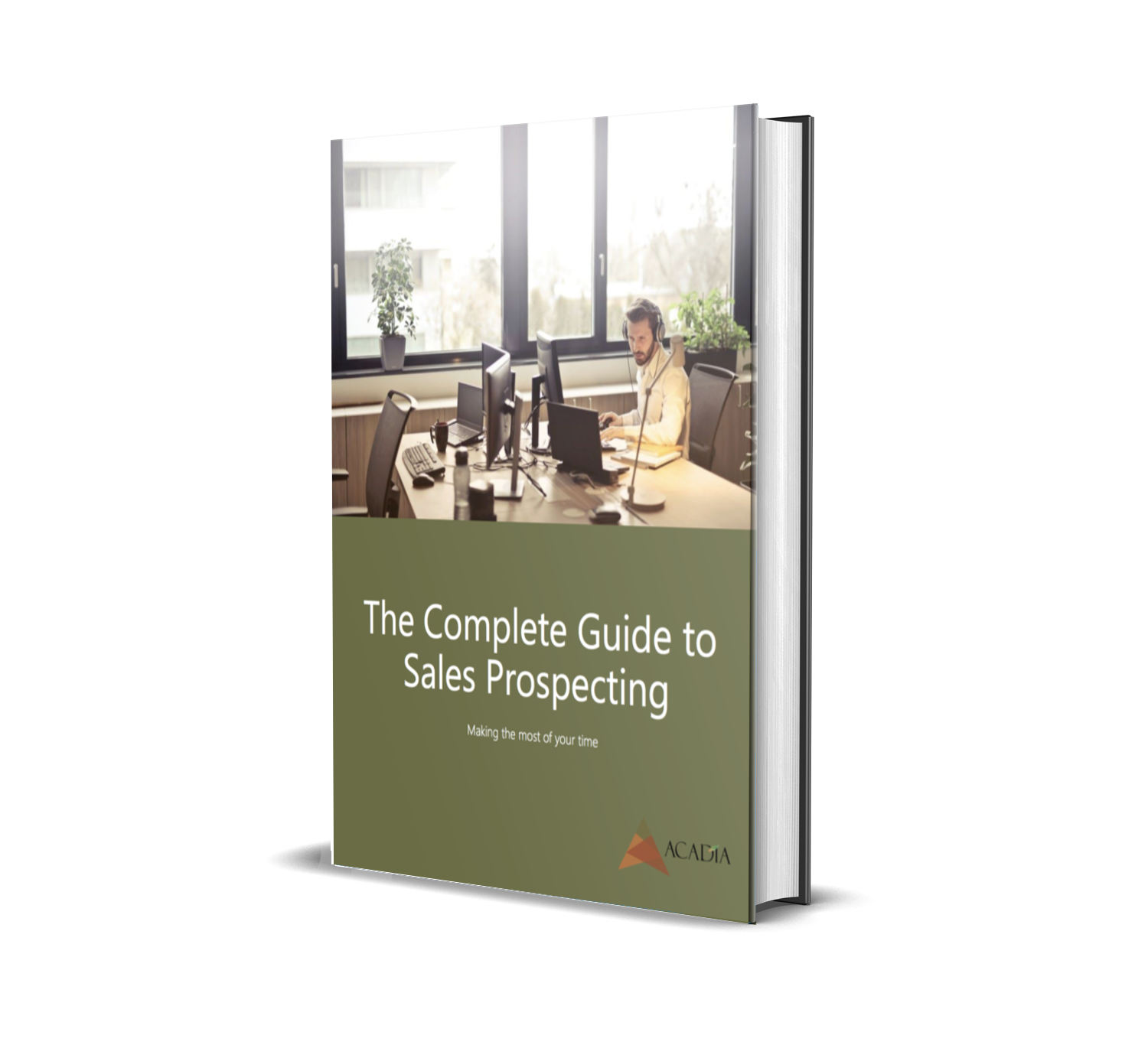Guide to Sales Prospecting Mockup