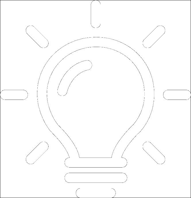 White Lightbuld Graphic